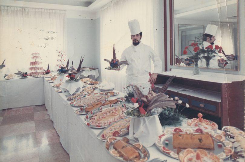 Colazione di lavoro per il presidente del Consiglio Emilio Colombo, Potenza 1971
