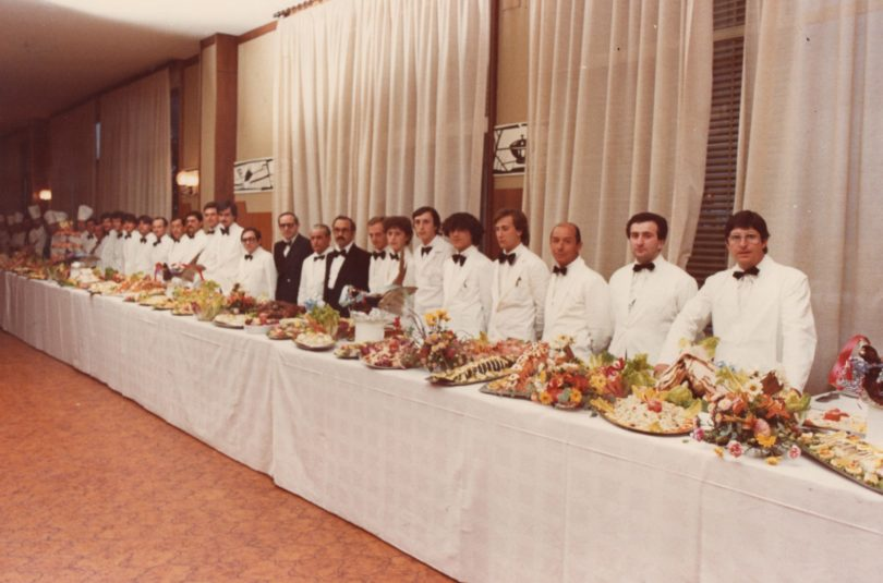 Tenuta privata Pozzoorsogno (Fg) pranzo a cura di Peppino Falconio, 1978