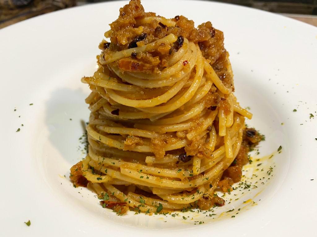 Spaghetti al peperone dolce di Altino (imbrogliati)